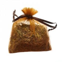 Săculeț cu lavandă organza - maro