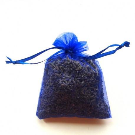 Săculeț cu lavandă organza - albastru